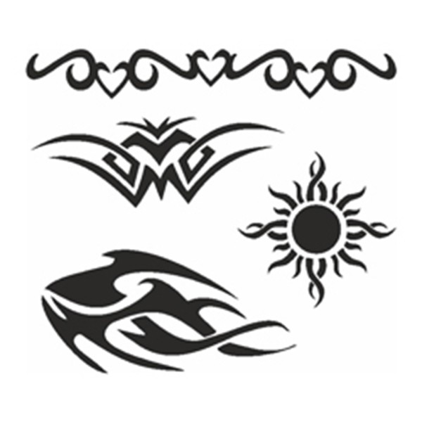 Selbstklebe-Schablonen Set Tribals (XL)