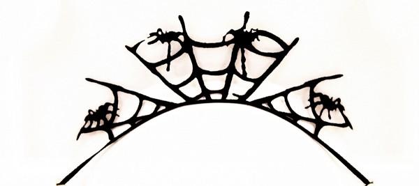 Papier-Wimpern, Black Spider - schwarz