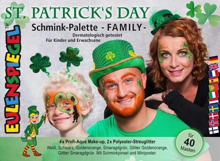 St. Patrick's Day Schmink-Palette Family