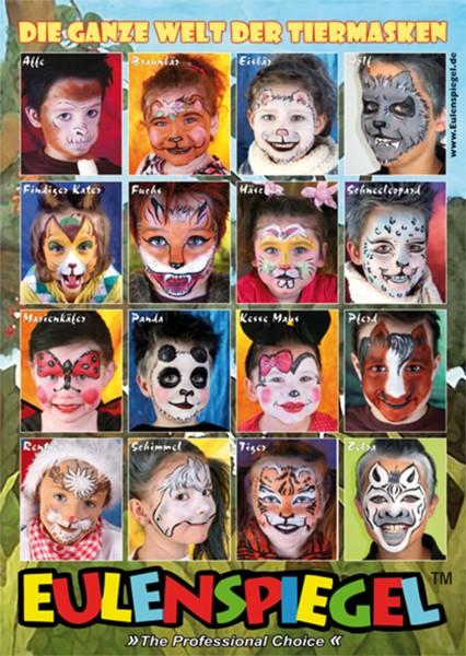 16 Tierisch gute Masken Poster