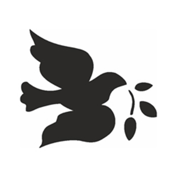 Selbstklebe Schablone - Friedenstaube