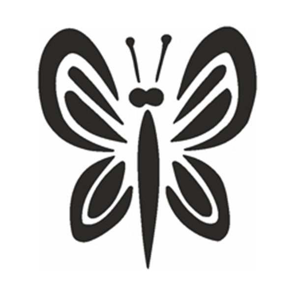 Selbstklebe Schablone - Schmetterling