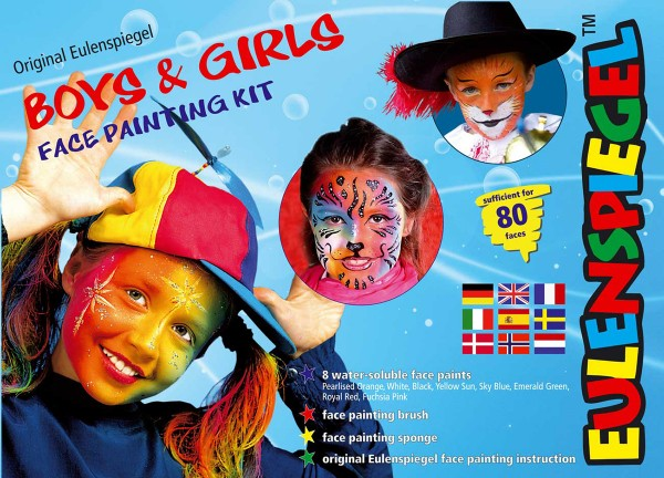 Boys & Girls Face Painting Kit