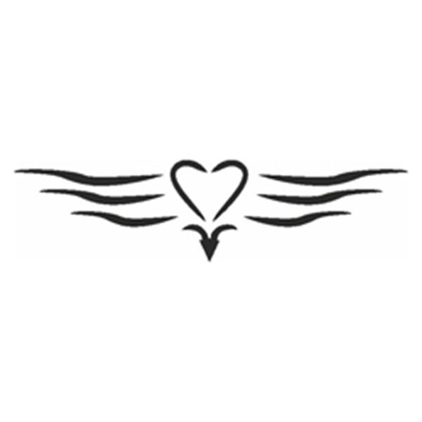 Selbstklebe Schablone - Herz mit Linien