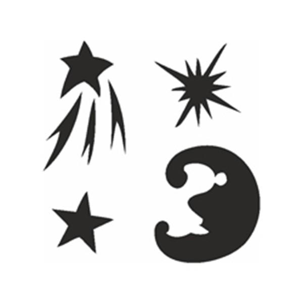 Selbstklebe Schablonen Set Stars