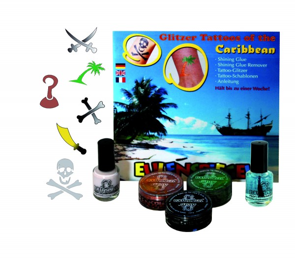 Glitzer Tattoo-Set- of the Caribbean (XL)