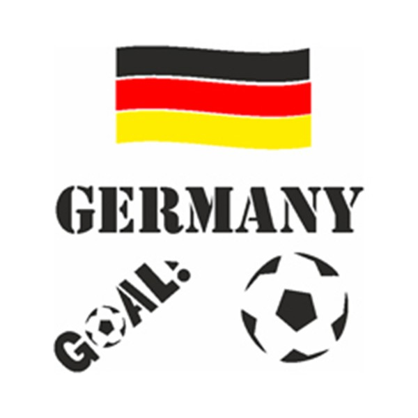 Selbstklebe-Schablonen Set Deutschland