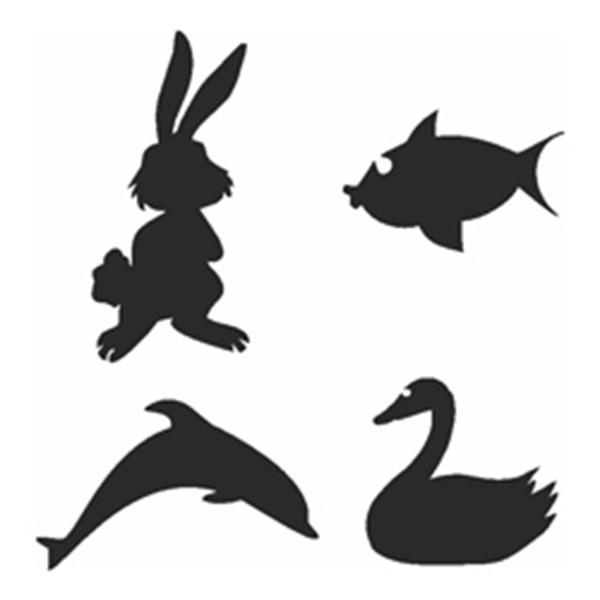 Selbstklebe Schablonen Set Animals