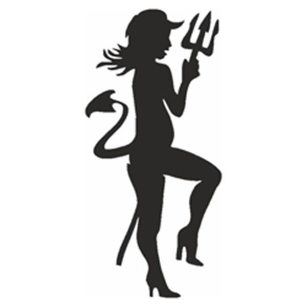 Selbstklebe Schablone - Teufelin