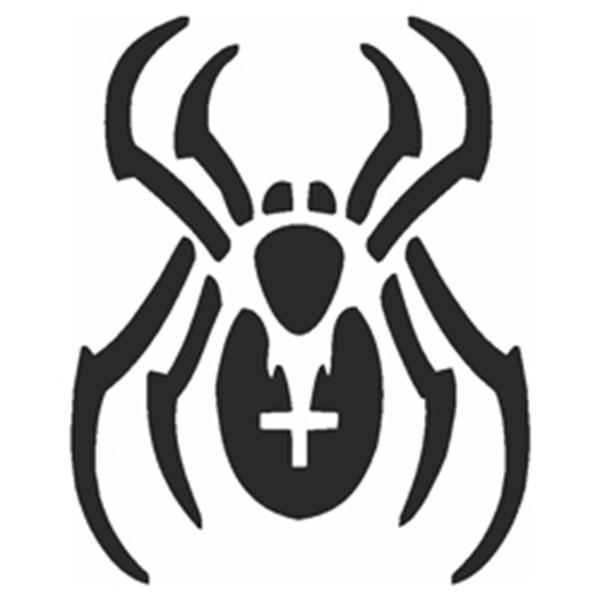 Selbstklebe Schablone - Spinne