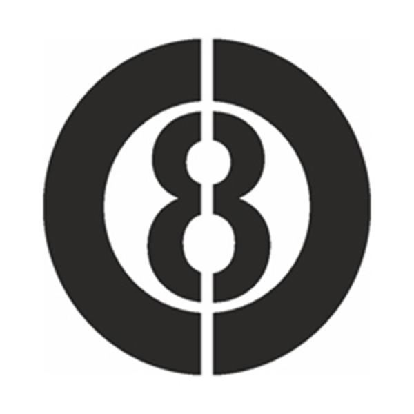 Selbstklebe Schablone - Schwarze 8