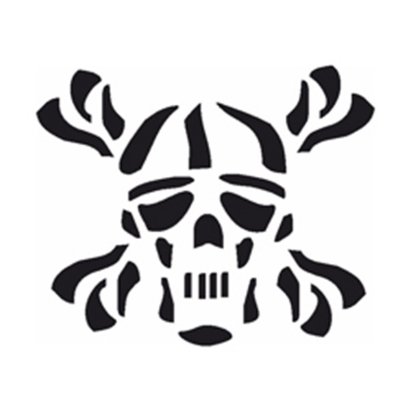 Selbstklebe Schablone - Tribal Kopf