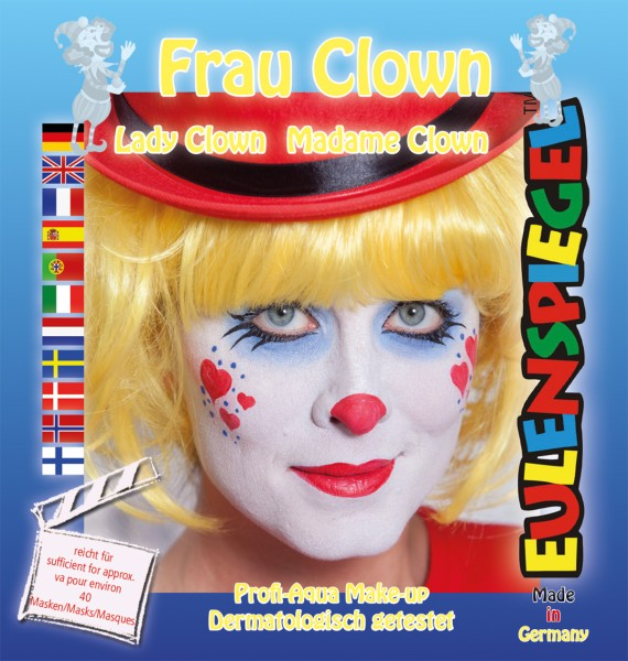 Motiv-Set Frau Clown