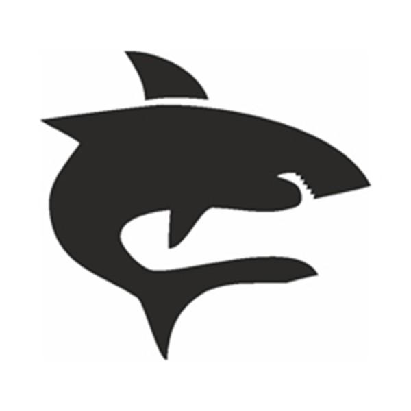 Selbstklebe Schablone - Hai