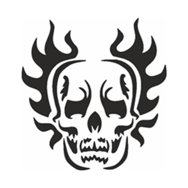 Selbstklebe Schablone - Skull