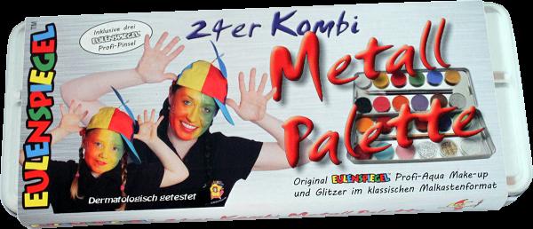 21 Farben 3 Glitzer Metall-Palette