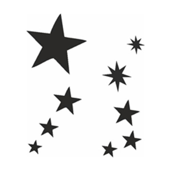 Selbstklebe Schablonen Set Sterne