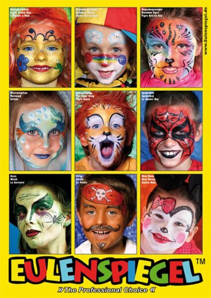 Poster mit 9 Masken