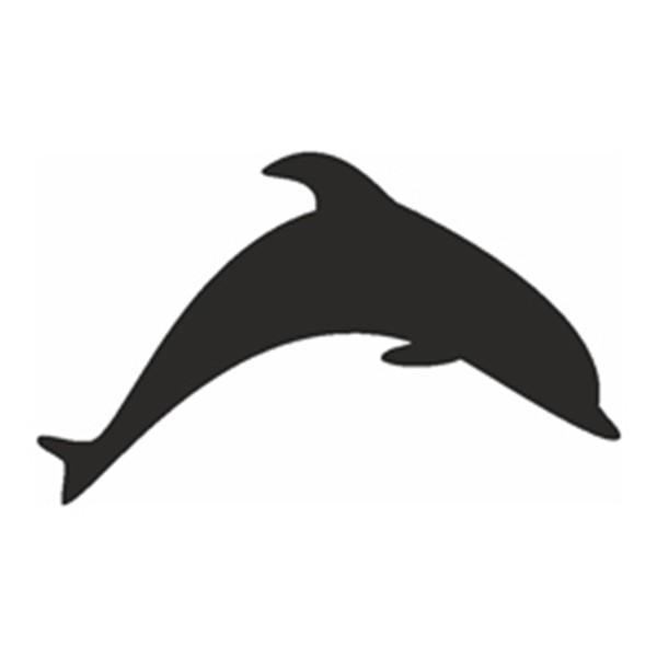 Selbstklebe Schablone - Delphin