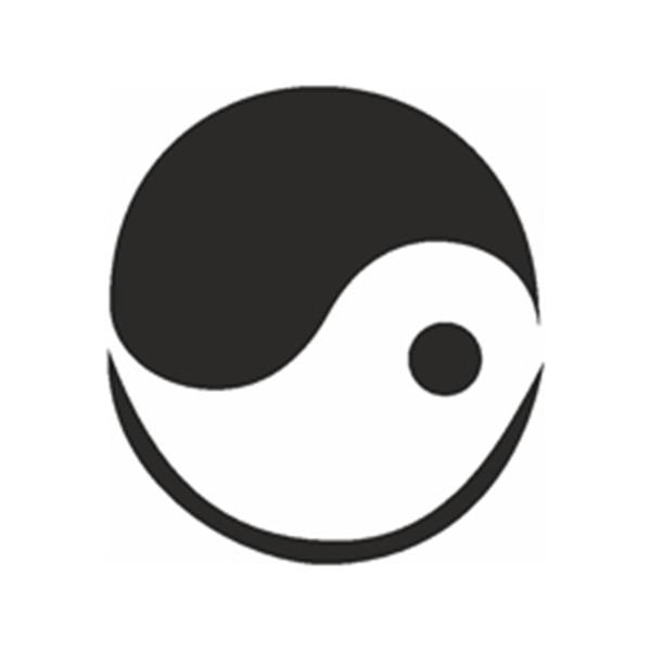 Selbstklebe Schablone - Yin-Yang