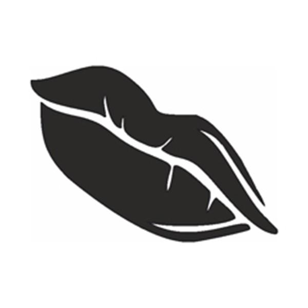 Selbstklebe Schablone - Lips