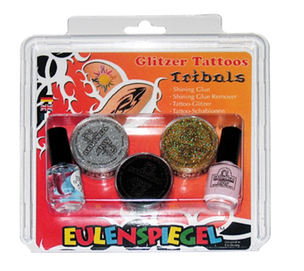 Glitzer Tattoo-Set Tribals (XL)