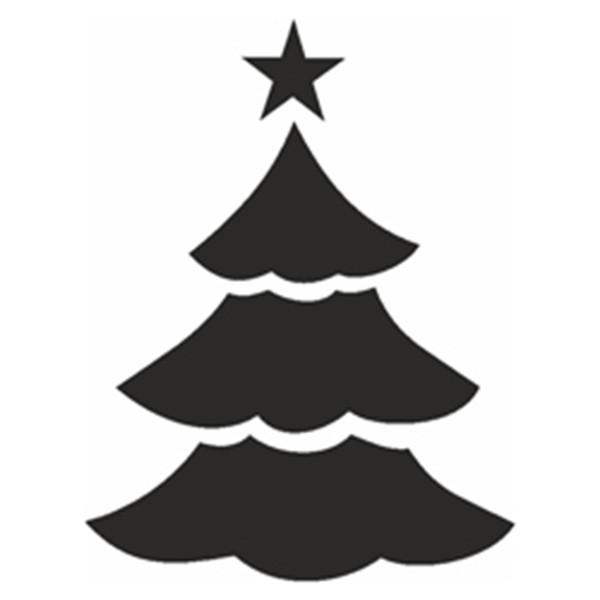 Selbstklebe Schablone - Weihnachtsbaum