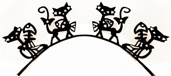 Papier-Wimpern, Kitty - schwarz