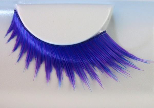 Wimpern, Blau/Pink