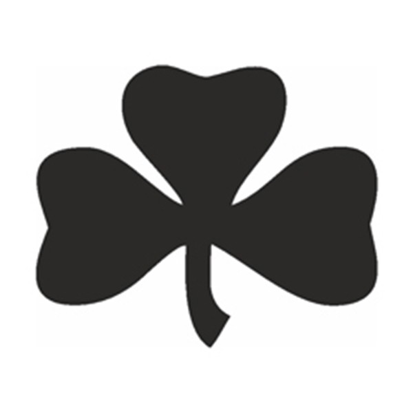 Selbstklebe Schablone - Kleeblatt