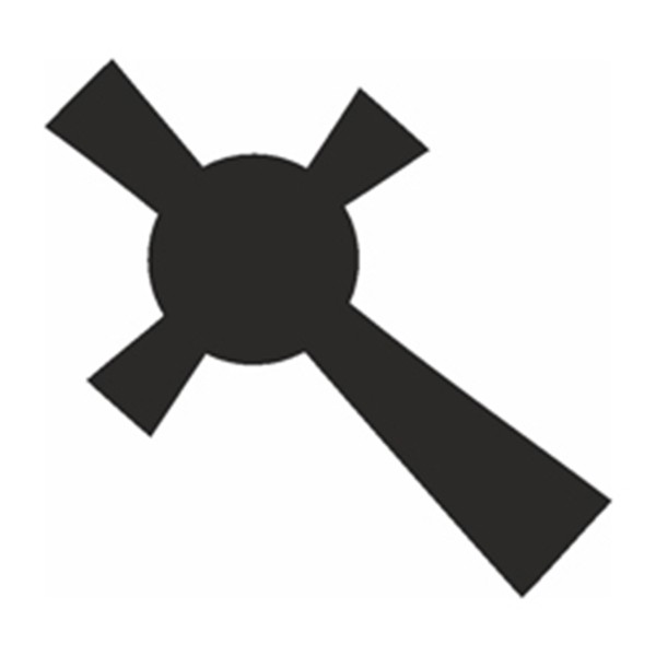 Selbstklebe Schablone - Celtic Cross