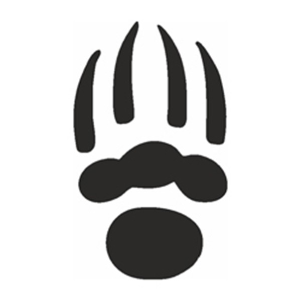 Selbstklebe Schablone - Bärenkralle