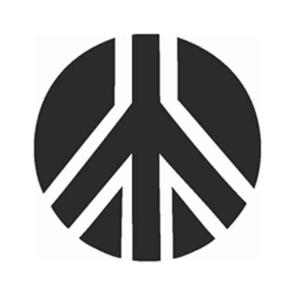 Selbstklebe Schablone - Friedenszeichen
