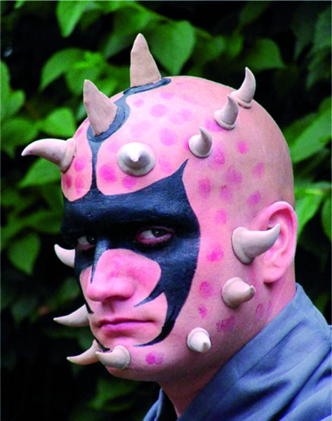 Latex-Maske Krallenhörner, mittel