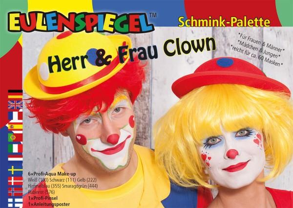 Herr & Frau Clown - Schminkpalette mit Anleitung