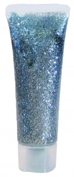 Glitzer-Gel Silber, 18ml
