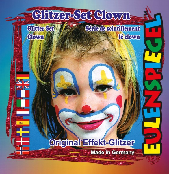 Glitzer Set Clown