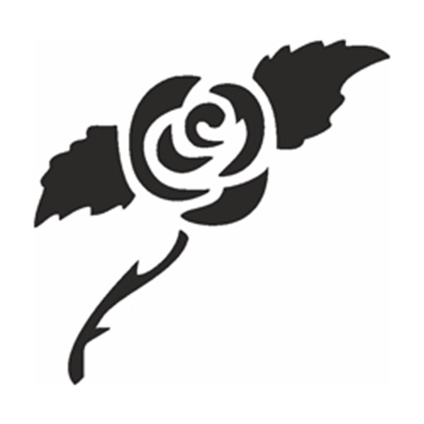 Selbstklebe Schablone - Rose