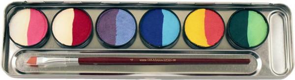 6=12 Farben Metall-Palette - Split Cakes